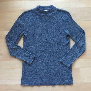 Grey Mock Neck Sweater